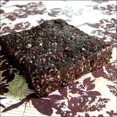 Barres choco/café crues - raw chocolat and coffee bars -vegan