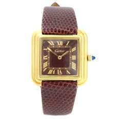 Cartier Cartier Vintage 18k Yellow Gold Electroplated Manual Wind Step Tank Watch | TrueFacet
