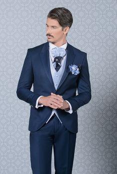 Azul marinho Ternos Dos Homens para o Casamento Terno Do Homem Blazers Casaco Calça Slim Fit Noivo Smoking Casual Traje Homme Nova Moda 2 Piece Dois