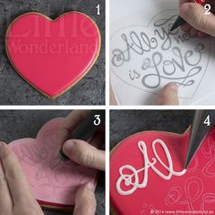 Galletas con mensaje / Message cookies | www.littlewonderlan… | Flickr