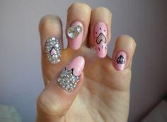 pink  nail art 33