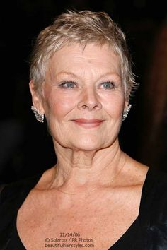 Judi Dench Haircuts And Fine Hair On Pinterest