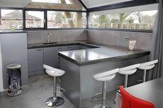 grey black kitchen interior design idea