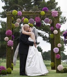 Preciosa pérgola para boda