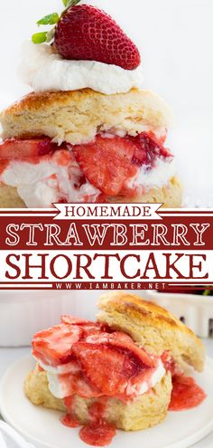 Strawberry Shortcake Recipe is a dessert that starts with buttermilk biscuits that are topped with strawberry sauce and whipped topping. It is crispy outside and soft inside, just like traditional biscuits and scones. It's a dessert that you can pile high with deliciousness!