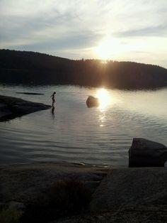 Lake in Ostergotland, Sweden.