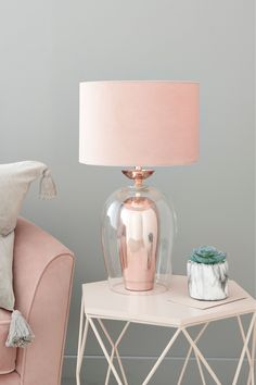 Buy Rosella Table Lamp from the Next UK online shop – Decorating Foyer Rose Gold Room Decor, Rose Gold Rooms, Rose Gold Lamp, Rose Gold Interior, Gold Bedroom, Bedroom Decor, New Room, Home Design, Home Decor