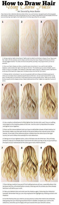 Cómo dibujar cabello