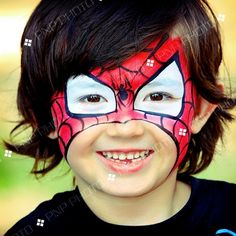 Another cute spidy facepaint!