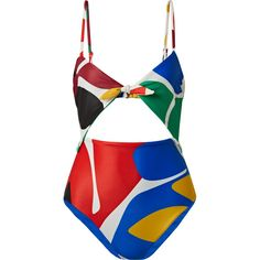 Mara Hoffman Kia cutout printed swimsuit ($275) ❤ liked on Polyvore featuring swimwear, one-piece swimsuits, blue, 1 piece swimsuit, cut-out bathing suits, blue one piece bathing suit, cut-out swimsuits and swim suits
