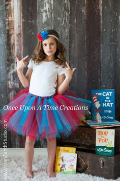 Red & Turquoise Blue Tutu  All Sizes  by OnceUponATimeTuTus