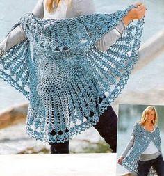Casos y Cosas de Mi Casa: Chaleco redondo grande tejido a ganchillo o crochet.