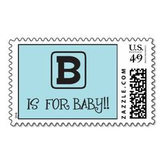 Baby Shower Stamp! Make your own stamps more personal to celebrate the arrival of a new baby. Just add your photos and words to this great design.