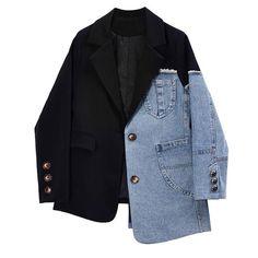 Shop 2019 SS Short Casual Style Denim Medium Party Style Denim Jackets by Denim Blazer, Jeans, Blazer Jacket, Denim Fashion, Fashion Outfits, Mode Streetwear, Blazers For Women, Women Blazer, Looks Style