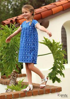 iCandy Girls Boho Dress Free pattern and tutorial Beautiful Dress Designs, Beautiful Dresses, Sewing Patterns For Kids, Sewing For Kids, Little Girl Dresses, Girls Dresses, Baby Girl Dress Patterns, Sewing Kids Clothes, Boho Girl