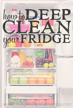 Did you know your messy refrigerator is not only a health hazard, but could also be costing you money? Don't miss this practical step-by-step tutorial for deep cleaning your fridge from top to bottom in less than an hour.  It's the perfect motivation to g