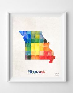 1000 Images About Watercolor Map Art Prints On Pinterest