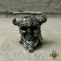 Undead Viking Solid Brass Bead for Paracord Bracelet and Lanyard by Covenant on Etsy
