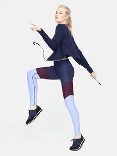 397d429322 Midweight full-length legging with chevron motif and hidden waistband  pocket. Get the trampoline