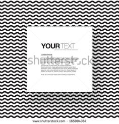 Abstract black and white text box design with your text and wave texture pattern background  Eps 10 vector illustration - stock vector