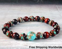 Your place to buy and sell all things handmade Yoga Mala, Mala Meditation, Jewelry Crafts, Jewelry Bracelets, Necklaces, Red Tigers Eye, Yoga Bracelet, French Girls, Yoga Jewelry