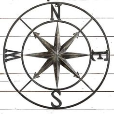 Round Compass Wall Decor