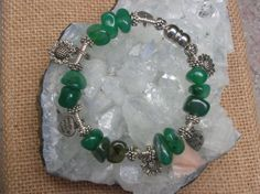 Hand Wrapped Aventurine Bracelet with Magnetic Closure COme take a look...Handmade and Custom Made Creations Just For You!