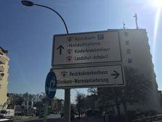 Weg zum Klinikum Landshut