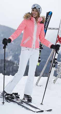Franzi Tec White Insulated Ski Pant & Pink Grapefruit Jacket Bogner