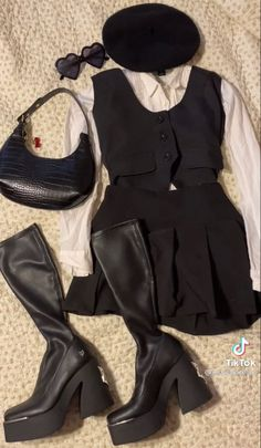 6th Form Outfits, Outfits For Teens, Cute Outfits, Knit Fashion, Girl Fashion, Fashion Outfits, 2000s Fashion, College Outfits, Aesthetic Clothes