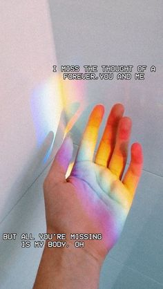 I miss the thought of a forever, you and me But all you're missing is my body, oh - Strangers (Halsey ft. Rainbow Aesthetic, Tumblr Quotes, Song Quotes, Qoutes, Quote Aesthetic, Music Lyrics, Wallpaper Quotes, Deep Thoughts, Motto