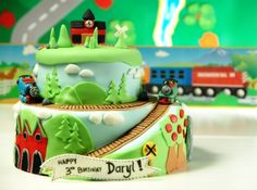 Pretty Amazing Thomas Cake  Have to show my sister in law for my nephew...