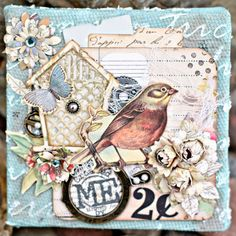 Romantic Mini Canvas by Scrappity Dappity Doo!: create the base with a Tattered Angels Naturally Aged Kit (weathered copper), add your favorite finds.  #7gypsies #naturallyagedkit #myart #Canvascorpcreativecrew #4x4challenge