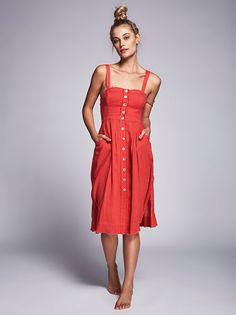 Barbara di Creddo || FP Endless Summer Girlfriend Material Dress (Paradise Coral)