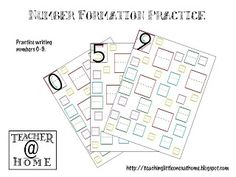 Printable | Number Formation Practice | Teacher@Home