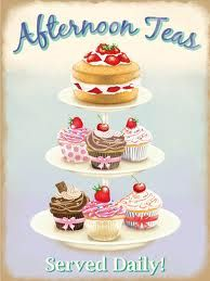 Afternoon Tea poster ...this would be a great applique quilt!