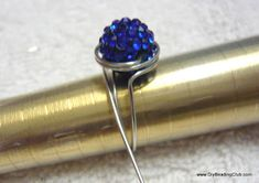 Jewelry Making Tutorials  Learn How To Make Jewelry - Beading & Wire Jewelry Classes : DIY Adjustable Wired Ring with Sparkling Bead Tutorial