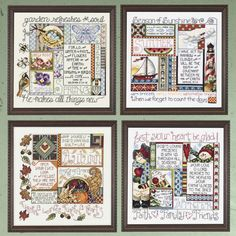 All Four Seasons Samplers - Cross Stitch, Needlepoint, Embroidery Kits – Tools and Supplies