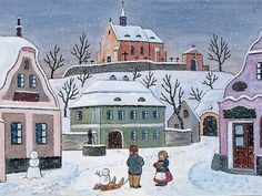 Josef Lada zima v obraze...Josef Lada Winter in the image ... (80 pieces)