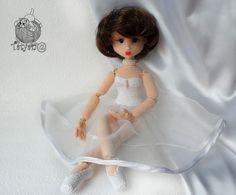 Балерина, вязаная кукла, шарнирка