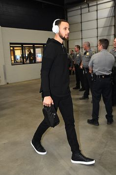 Stephen Curry of the Golden State Warriors is seen before the game against the Oklahoma City Thunder on February 11 2017 at Chesapeake Energy Arena...