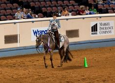 The incomparable Vital Signs Are Good (Lucy)....doing one if the things she does best - winning the Am Western Riding at the 2013 World Show.