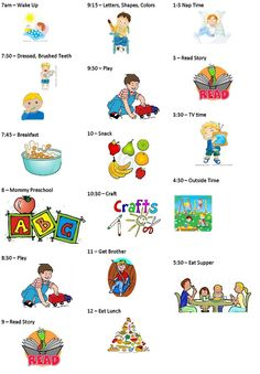 sample daycare schedule....I like the idea of using this as a SAHM ...