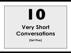 10 Very Short Conversations. Set Five. Easy English Conversation Practice.