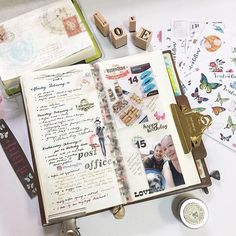 First half of week 7. Playing with my stickers from @londongifties ! #Midoritravelersnotebook #travelersnotebook #travelersnote #notebook #planner #plannerpages #agenda #diary #journal #bujo #bulletjournaling #journalpages #stationery #stickers #londongifties #365notebook