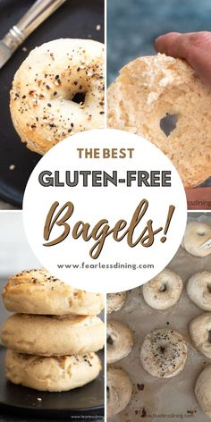 These gluten free bagels are perfect in every way. The best and so easy to make with either yeast or sourdough starter. Top with everything seasoning, sesame seeds, or poppy seeds. fearlessdining Good Gluten Free Bread Recipe, Gluten Free Bagels, Gluten Free Recipes For Breakfast, Homemade Breakfast, Free Breakfast, Pumpkin Bagel Recipe, Pumpkin Pies, Recipes With Yeast, Bread Recipes