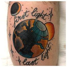 first light last light planet earth tattoo by sanchez tattooer sydney