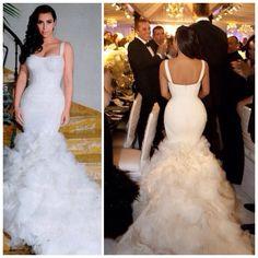 Kim Kardashian's wedding dress