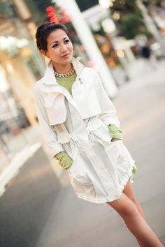White Silk :: Summer jacket & Ombre choker : Wendy's Lookbook