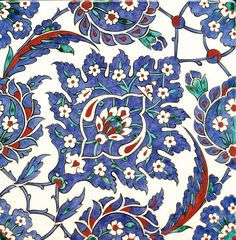 Iznik Ceramic Tiles, Iznik, Turkey Islamic Patterns, Tile Patterns, Pattern Art, Turkish Art, Turkish Tiles, Portuguese Tiles, Moroccan Tiles, Moroccan Decor, Islamic Tiles